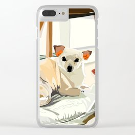 Ho-e under a chair Clear iPhone Case
