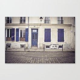 Streets of Montmartre Paris Canvas Print