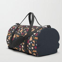 Gingerbread pups   Corgi Duffle Bag