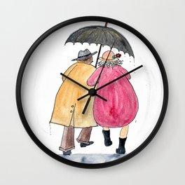 Rain or Shine be my Valentine Wall Clock