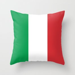 Flag of Italy, High Quality Image Throw Pillow