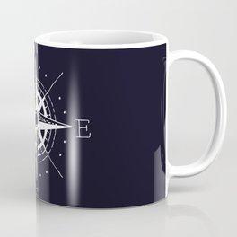 Navy Nautical - White Compass Coffee Mug