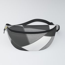 Silver Gray Black White Geometric Glam #1 #geo #decor #art #society6 Fanny Pack