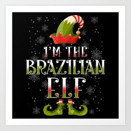 Brazilian Elf Christmas Art Print