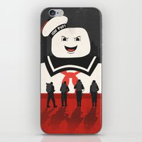 ghostbusters iPhone & iPod Skins featuring Ghostbusters by Bill Pyle