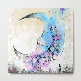 Luna Lunes Metal Print