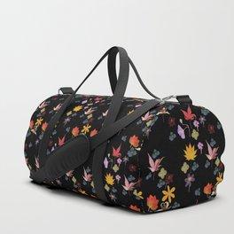 Dark Floral Garden Duffle Bag