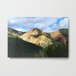 Painted Mountains Metal Print