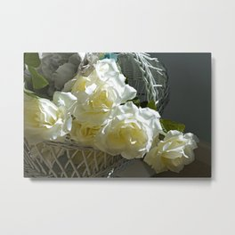 Roses in the White Light Metal Print