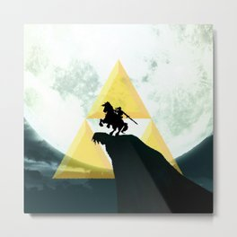 Zelda Link Triforce Metal Print