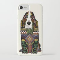 the hound iPhone & iPod Cases featuring Basset Hound by Sharon Turner