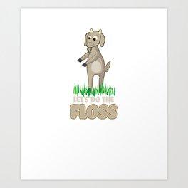 Floss Dance  Move Goat Art Print