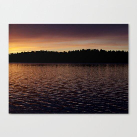 quiet evening Canvas Print