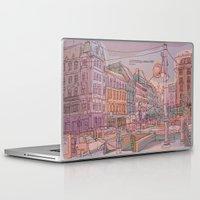 budapest Laptop & iPad Skins featuring Astoria-Budapest by Zsolt Vidak