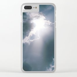 Sunburst of Light Parting the Clouds Clear iPhone Case