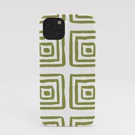 Khaki Greek pattern iPhone Case