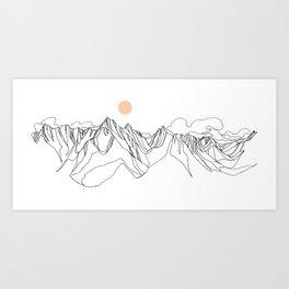 Mount Jumbo :: Single Line Art Print