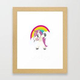 unicorns are born in July Framed Art Print