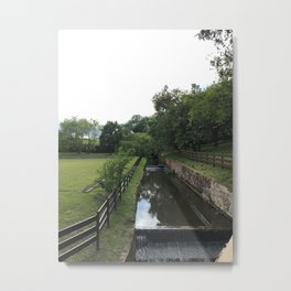 Scotland Fence Metal Print