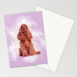 English Cocker Spaniel Dog Digital Art Stationery Cards
