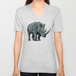 Rhinoceros (Color Version) Unisex V-Neck