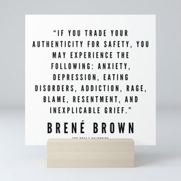 46    | Brené  Brown Quotes | 190524 | White Design Mini Art Print