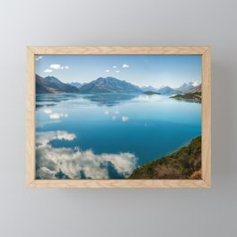 Breathtaking View of Lake Wakatipu in New Zealand Framed Mini Art Print
