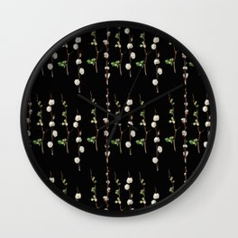 Willow Quince Stems Pattern Wall Clock