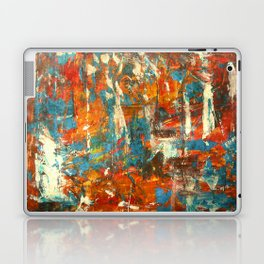 An Oasis In A Desert Abstract Painting Laptop & iPad Skin