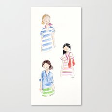 J Crew Summer Girls Canvas Print