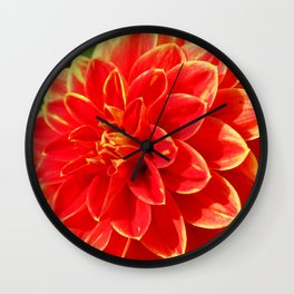Lovely Dahlia Wall Clock