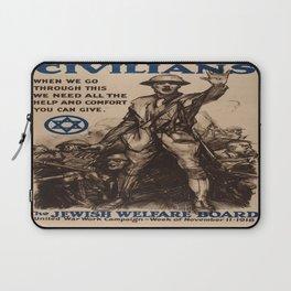 Vintage poster - National Jewish Welfare Board Laptop Sleeve