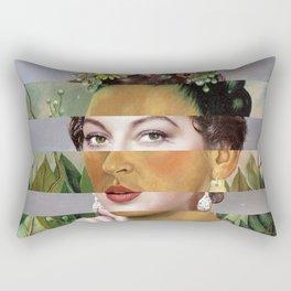 Frida Kahlo's Self Portrait with Hand Earrings & Ava Gardner Rectangular Pillow