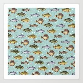 Watercolor Fish Art Print