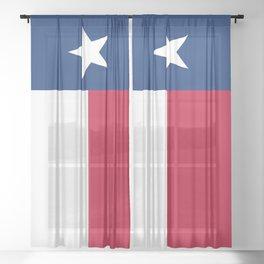 Texas Flag Sheer Curtain