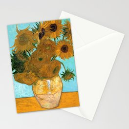 Vincent van Gogh - Still Life Vase with Twelve Sunflowers Stationery Cards