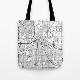 Minneapolis Map White Tote Bag