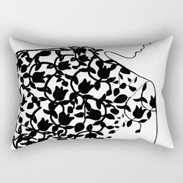 Ornaments in Woman's Back 1 - Black and White #decor #society6 #buyart Rectangular Pillow