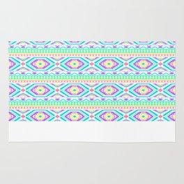 Aztec Geometric Print - Pastel bright colours Rug