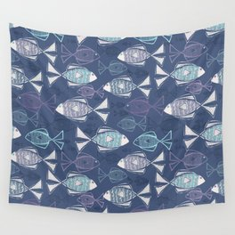 Here, Fishy Fishy Wall Tapestry