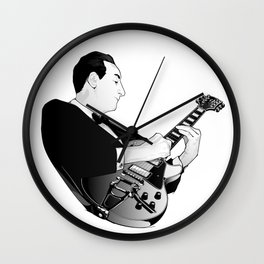 LES PAUL House of Sound - WHITE GUITAR Wall Clock