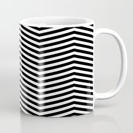 Chevron black white Coffee Mug