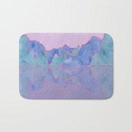 Mountain Reflection in Water - Pastel Palette Bath Mat