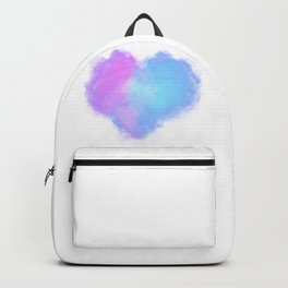 Heart shaped clouds Backpack