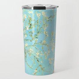 Vincent Van Gogh Almond Blossoms  Panel arT Aqua Seafoam Travel Mug