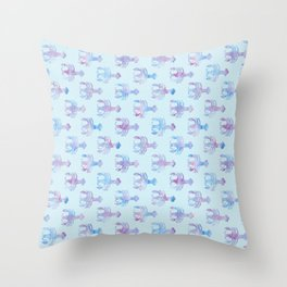 Cancer - Water Sign - Crab Pattern Throw Pillow