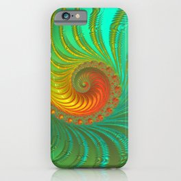 Ripple Effect - Fractal Art  iPhone Case