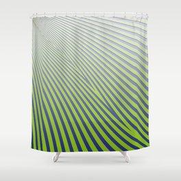Green Diagonal Stripes Shower Curtain