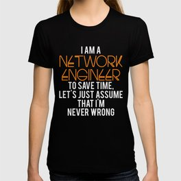 Network Engineer Gift Funny Engineering Computer Science T-shirt