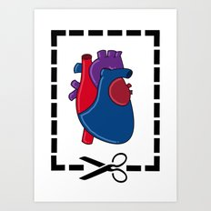 Cut My Heart Art Print